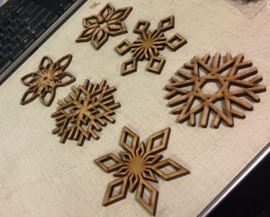 6 Different Snowflakes